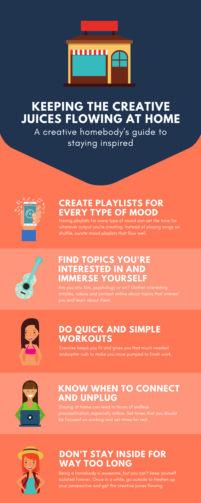 How to keep the creative juices flowing.